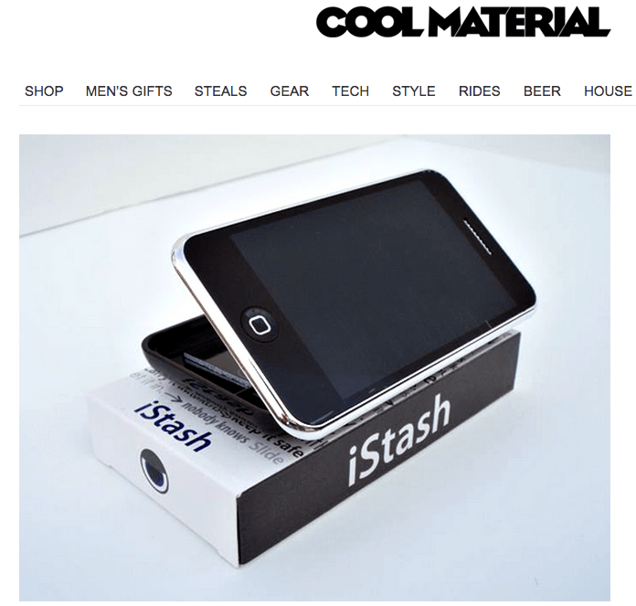 The iStash on Cool Material How to Not Lose $6537 and Create a Product Nobody Wants