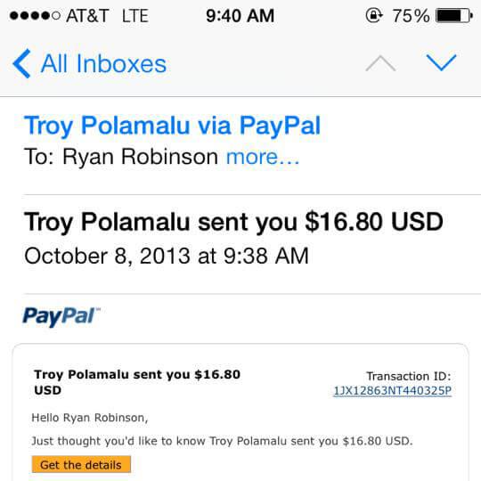 Troy Polamalu iStash Order