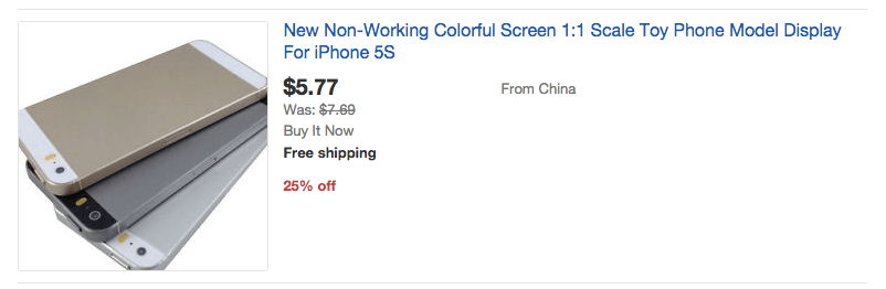 eBay iPhone Dummy Model How to Not Lose $6537 and Make a Product Nobody Wants