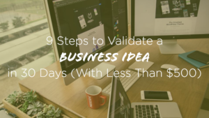 How to Validate a Business Idea in 30 Days with Less Than 500 Dollars