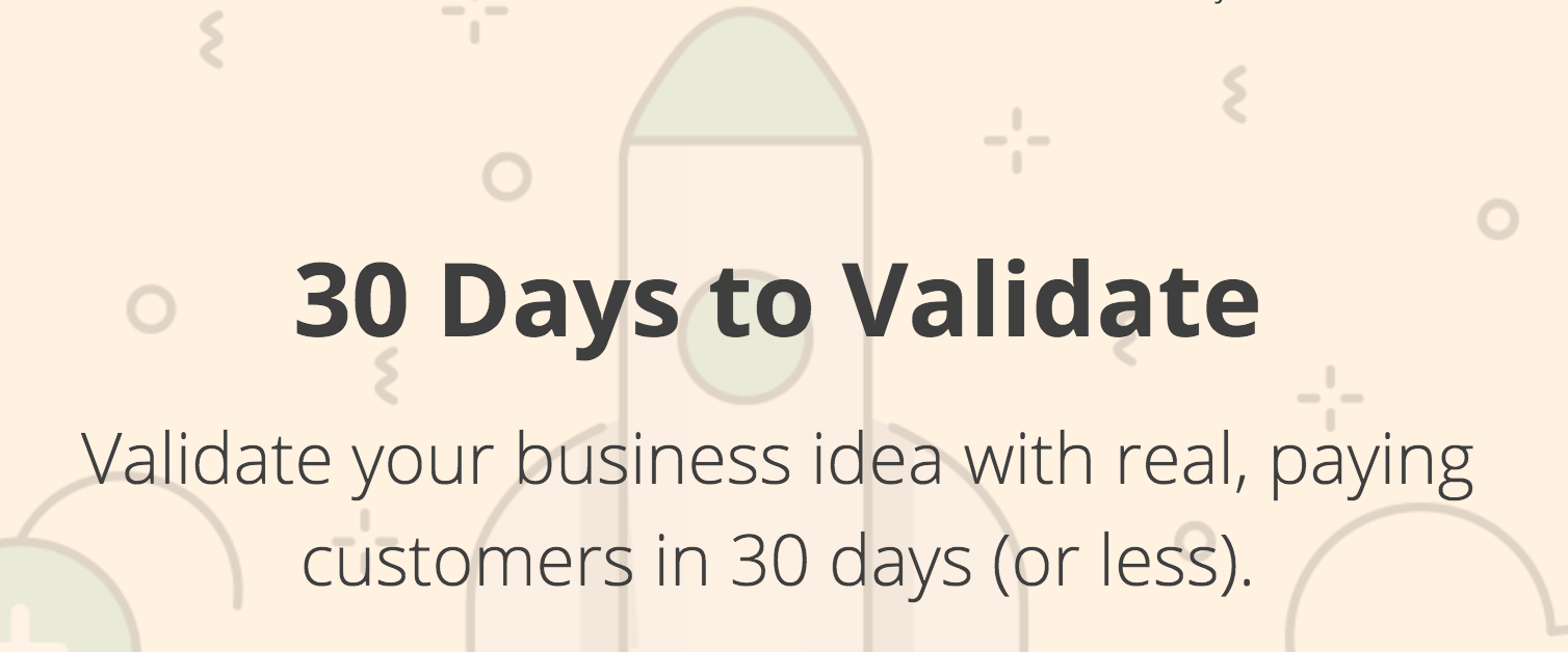 30 Days to Validate Online Course