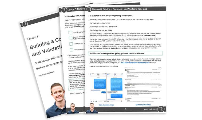 Find a Profitable Business Idea Free Online Course Lesson Build Community Validate Idea