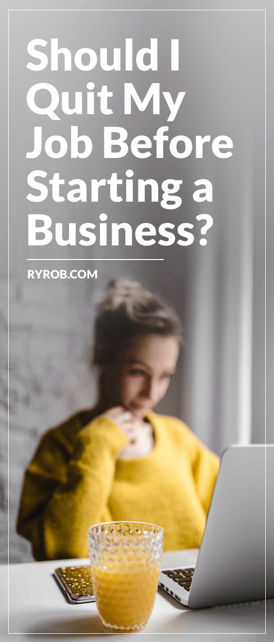 Should I quit my job before starting a business? Ask these 5 questions to make that decision, read Justine's story and my profitable side hustle experience.