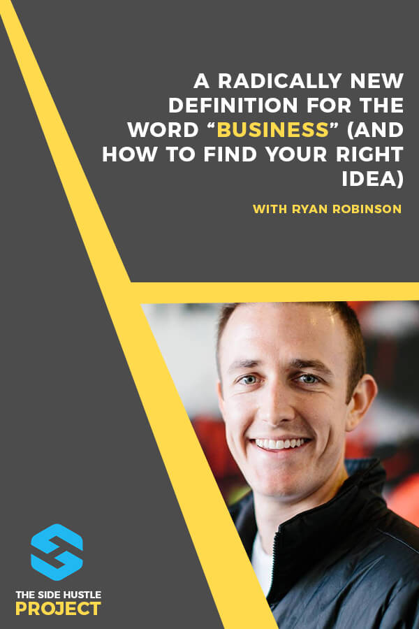 "Want to find the best side hustle idea? In this episode of The Side Hustle Project, I want to offer up a radically new definition of what a ""business"" really is. A new take on how you should think about being an entrepreneur. Plus, I'm walking you through my personal process for finding the right side hustle idea that's a unique match for you..."