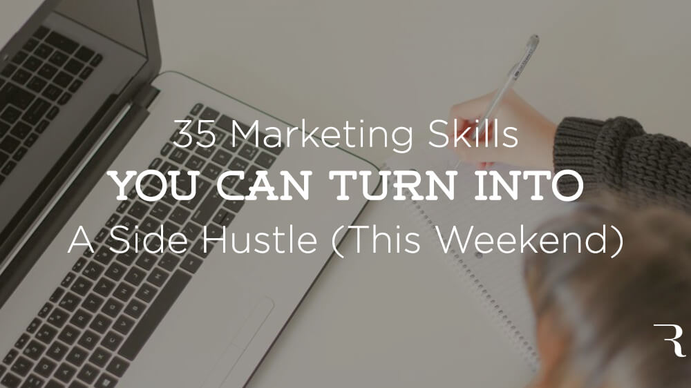 35 Marketing Skills Side Hustle Jake Kurtz Guest Post on ryrob