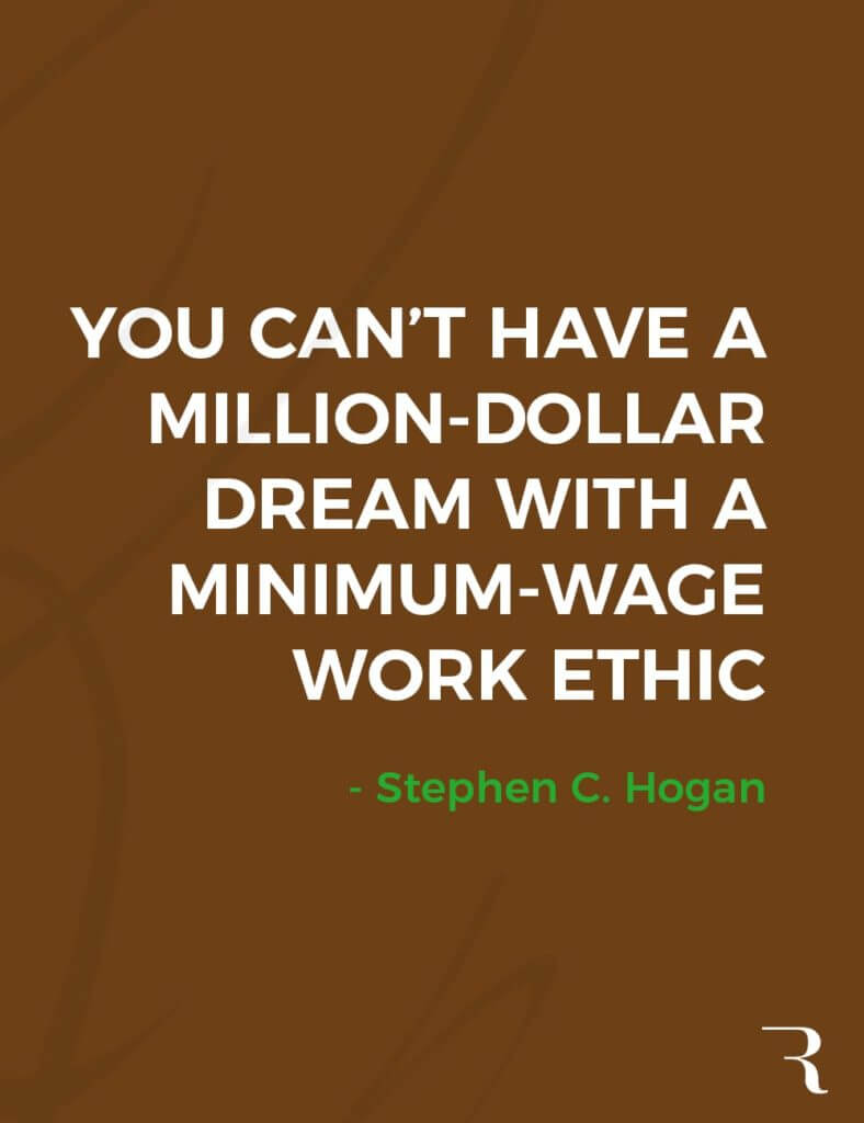 """Motivational Quotes: """"You can't have a million-dollar dream with a minimum-wage work ethic."""" 112 Motivational Quotes to Be a Better Entrepreneur"""