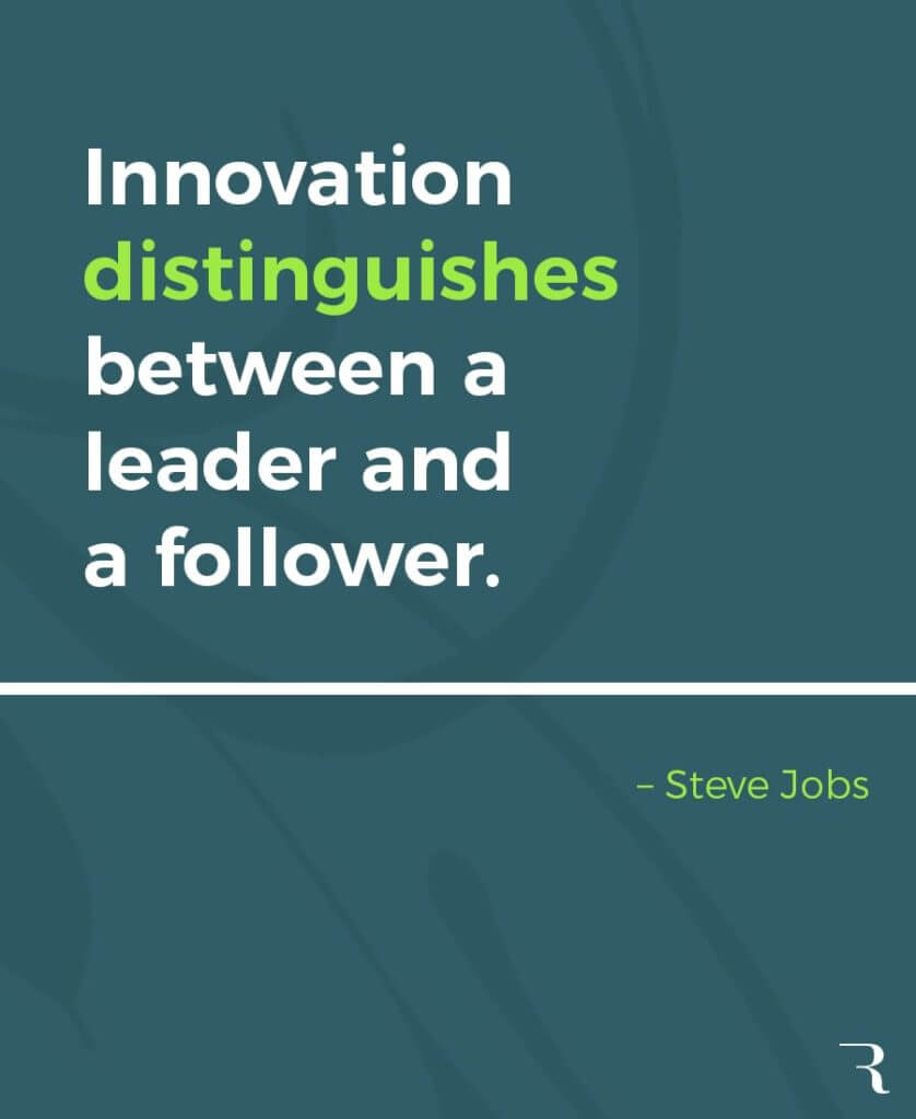 """Motivational Quotes: """"Innovation distinguishes between a leader and a follower."""" 112 Motivational Quotes to Be a Better Entrepreneur"""
