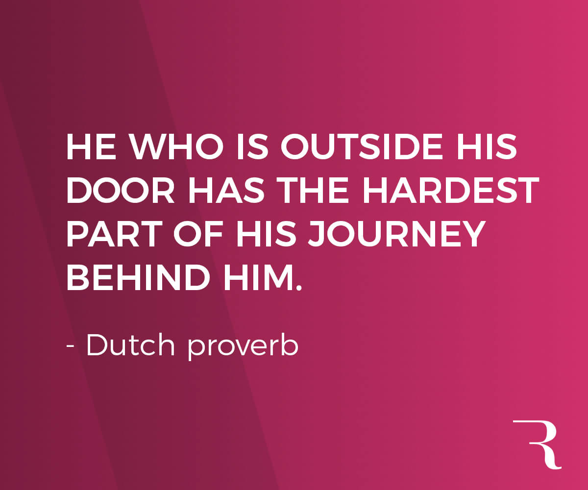 """Motivational Quotes: """"He who is outside his door has the hardest part of his journey behind him."""" 112 Motivational Quotes to Be a Better Entrepreneur"""