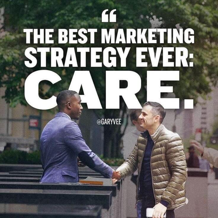 Content Marketing Strategy Gary Vaynerchuk Care About People
