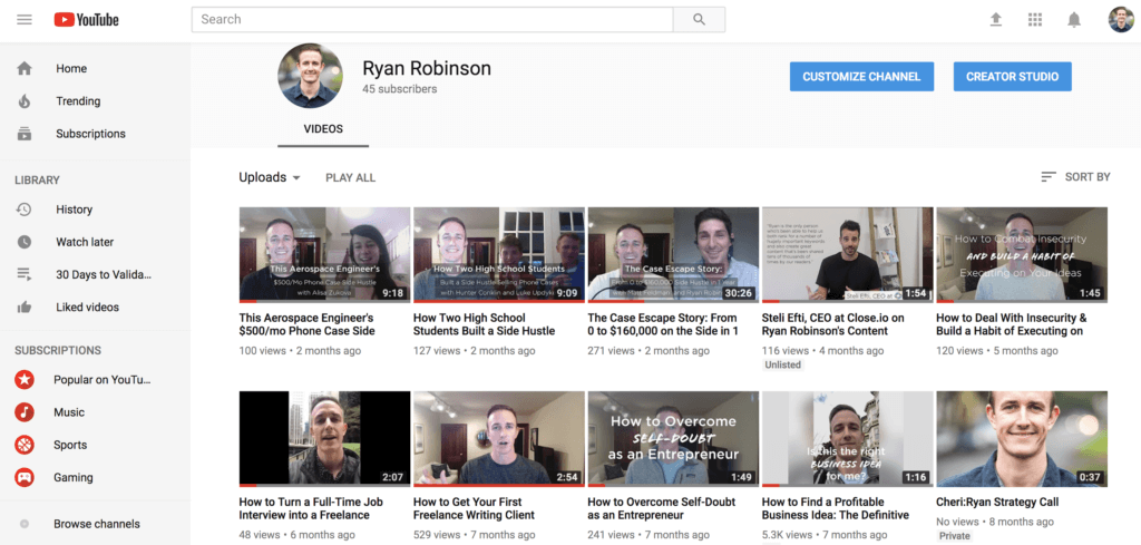 Content Marketing Strategy Videos and YouTube