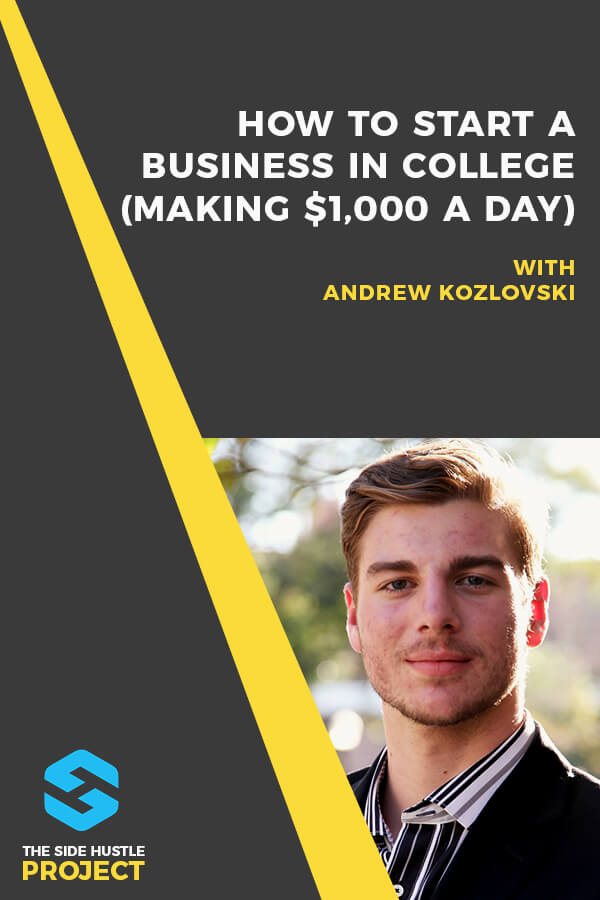 In this episode, we're talking to Andrew Kozlovski about how to start a business in college. Andrew's a senior at USC, and the entrepreneur behind Brainz Power, his cognitive enhancement supplement company where he now earns $1,000+ a day. We dig into how he got started manufacturing an FDA-approved supplement, how he built an Instagram following of 100,000+ people, and so much more...