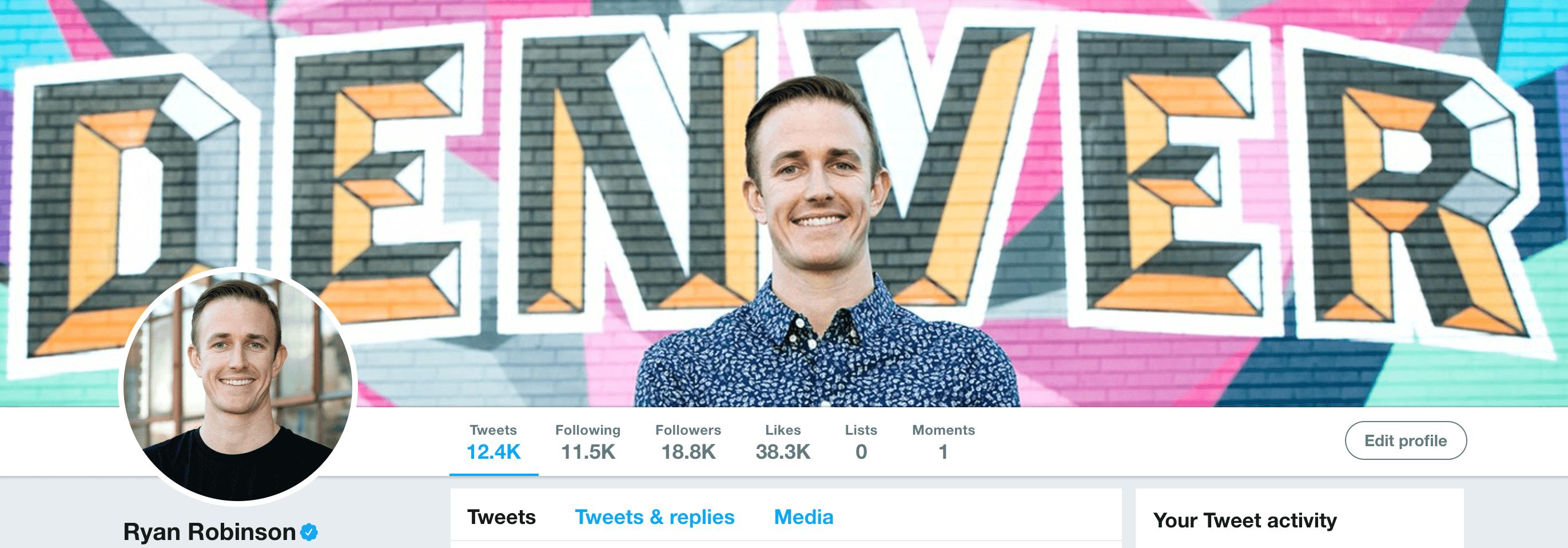 Ryan Robinson Content Marketing Consultant, Entrepreneur, Writer on Twitter