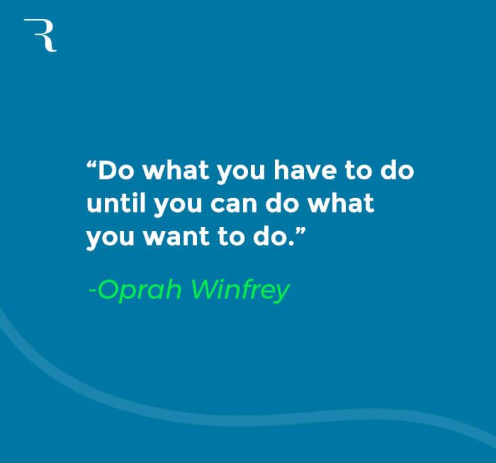 How to Fund Side Hustle - Oprah Winfrey quote