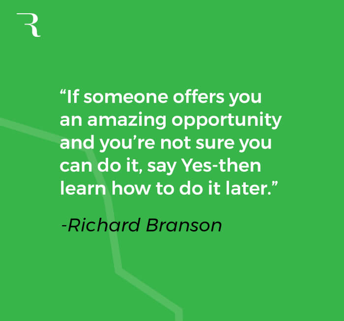 How to Fund Side Hustle - Richard Branson quote