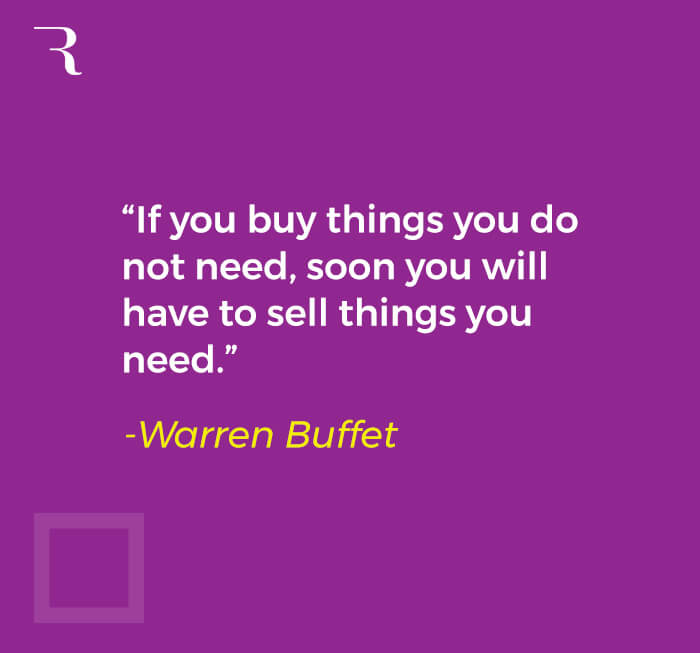 How to Fund a Side Hustle Idea - Warren Buffet quote
