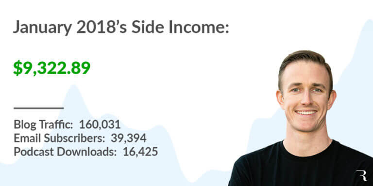 Side Income Report - January 2018 Featured Image Ryan Robinson ryrob with all stats