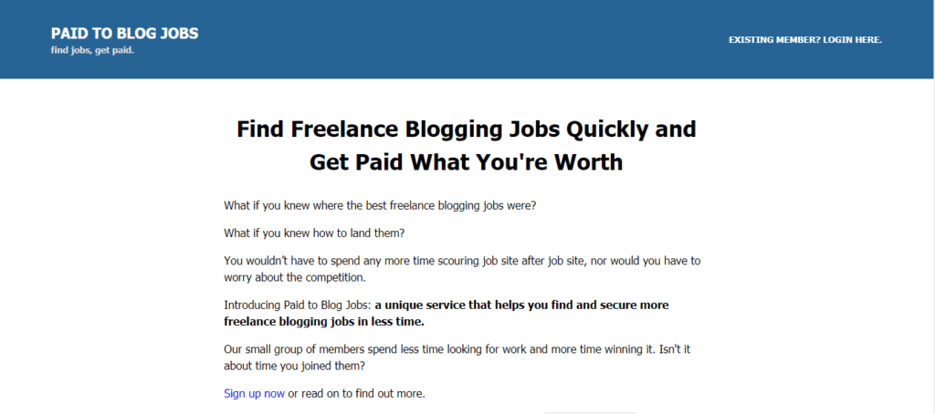 The best free job sites paid for in a blog