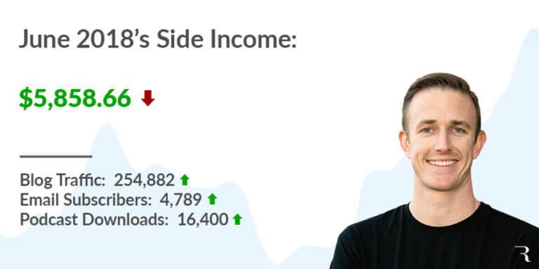 2018-06 June Side Income Report Ryan Robinson ryrob 2