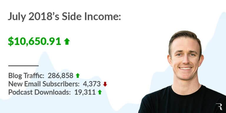 2018-07 July Side Income Report Ryan Robinson ryrob