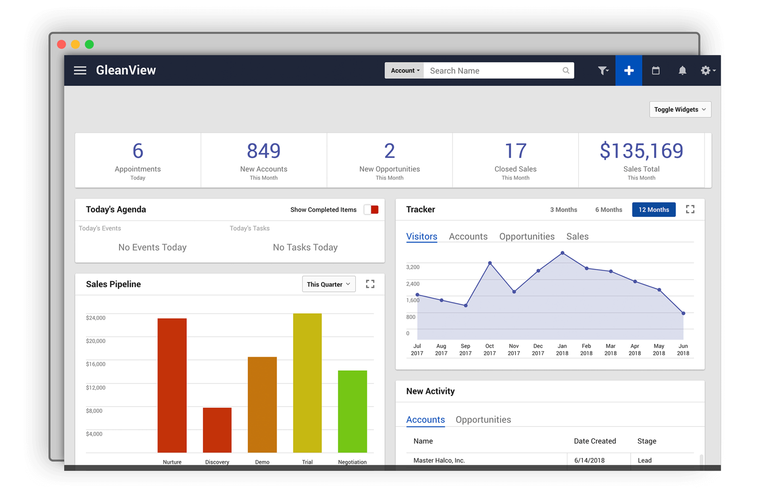 Best CRM for Small Business Startups gleanview