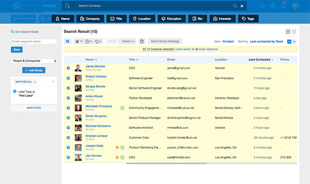 Best CRM for Small Business Startups nimble