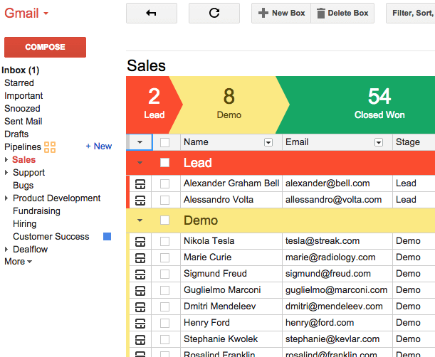 Best CRM for Small Business Startups streak