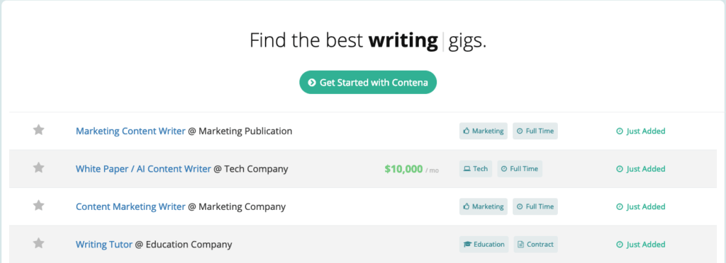Top freelance job sites Jobs for writing on Contena
