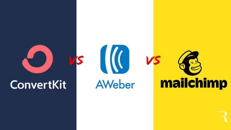 ConvertKit vs AWeber vs Mailchimp Best Email Marketing Tool for Bloggers by Ryan Robinson on ryrob red vs