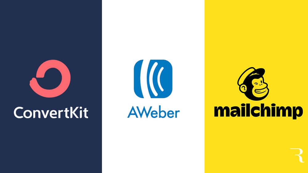 ConvertKit vs AWeber vs Mailchimp Il miglior strumento di email marketing per blogger di Ryan Robinson su ryrob