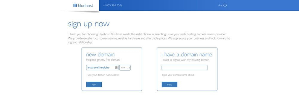 Create an Account and Getting Your Domain Name with Bluehost to Host Your Blog