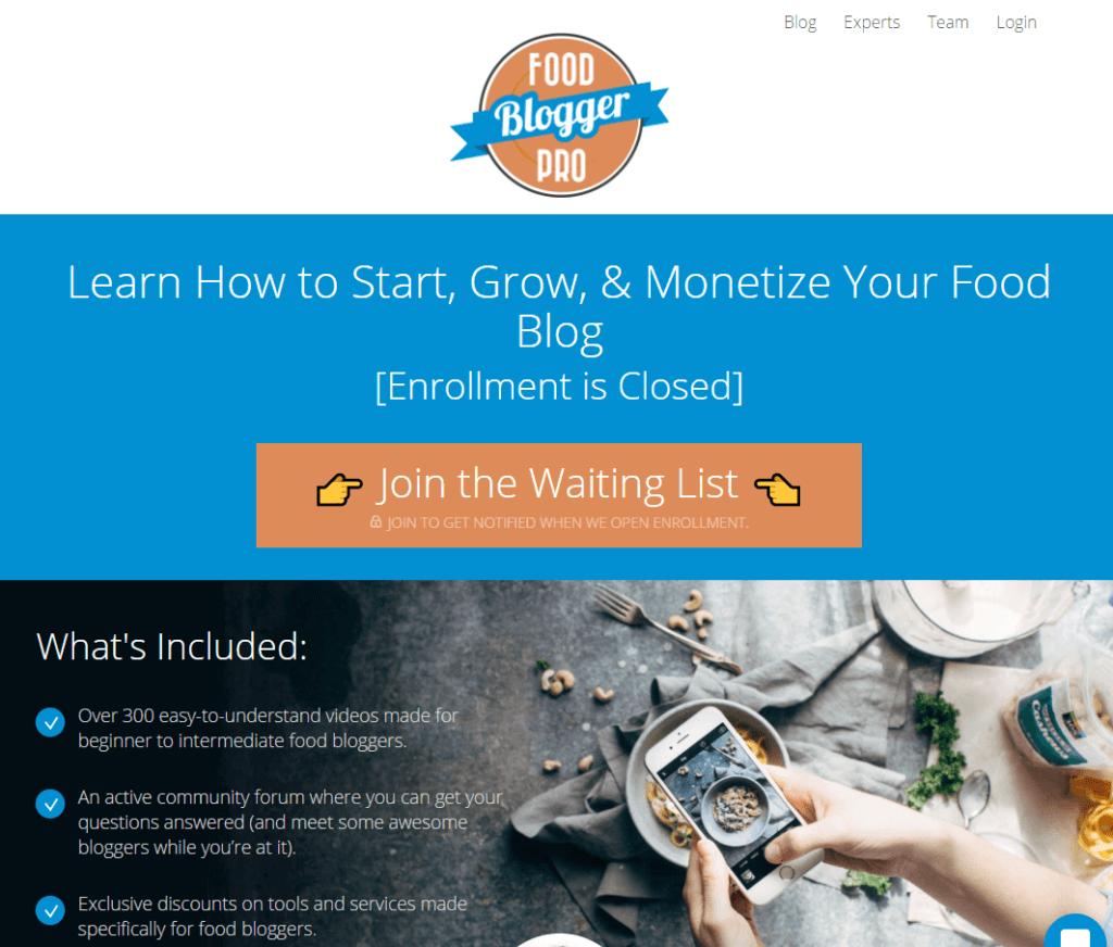 I migliori corsi di blogging per principianti Blogger Food Blogger Pro