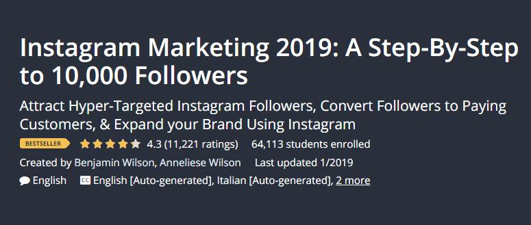 I migliori corsi di blogging per principianti blogger Instagram Marketing 2019