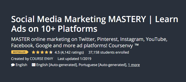 I migliori corsi di blogging per principianti Blogger Social Media Marketing Mastery