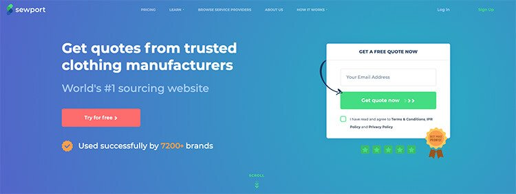 Online Business Tools Sewport for Clothing Manufacturers