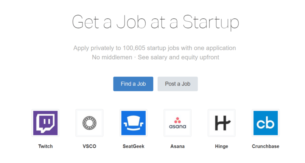 Remote Jobs Websites AngelList