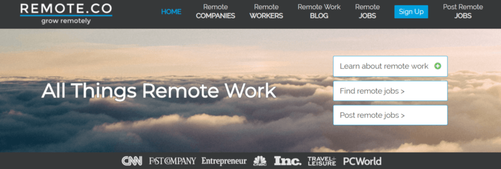 Remote Jobs Websites Remote.co