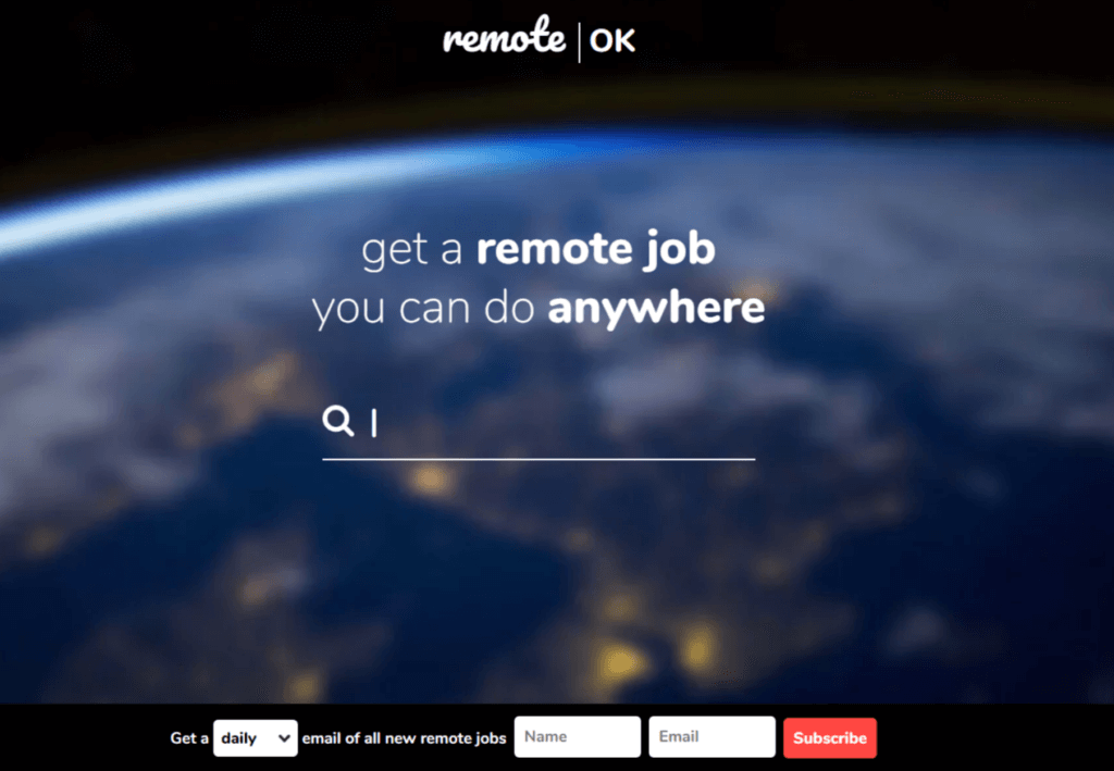 Remote Jobs Websites Remote.ok