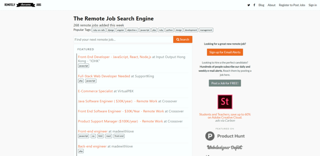 Remote Jobs Websites Remotely Awesome Jobs