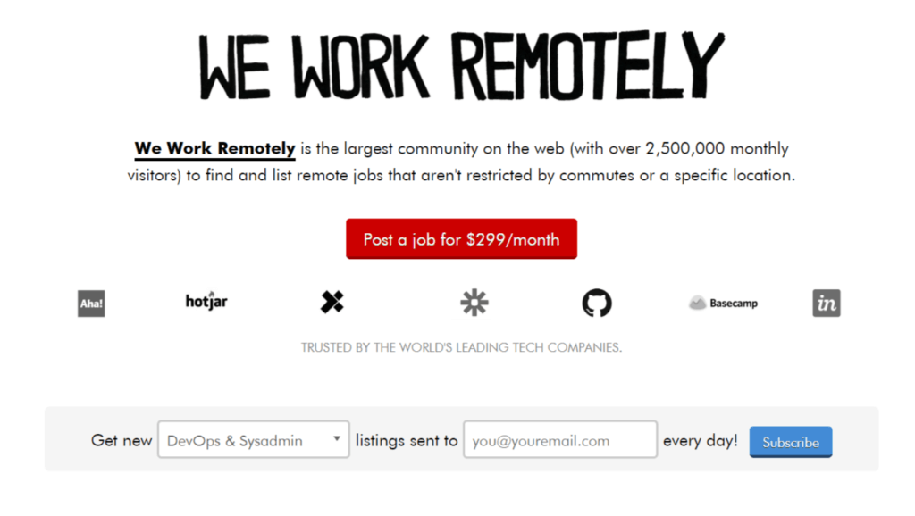 Remote Jobs Websites We Work Remotely