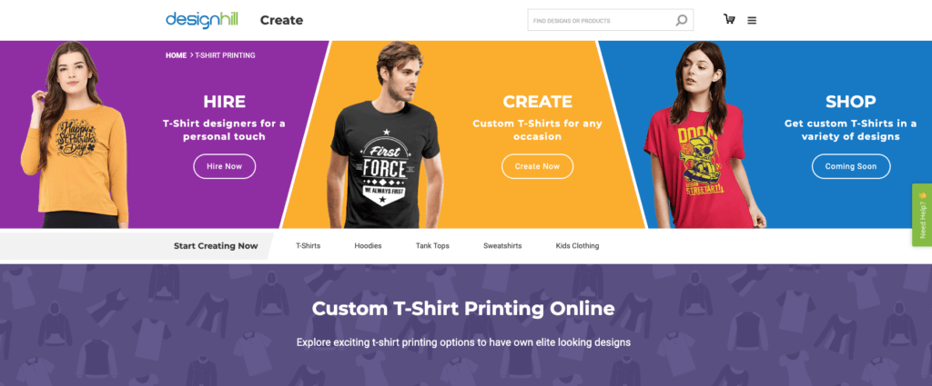 T-Shirt Design and Print Shop Online Business Tool