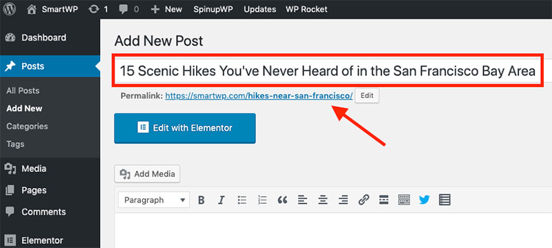 How to Write a Blog Post Headline (Example and Screenshot) in Starting a New Blog