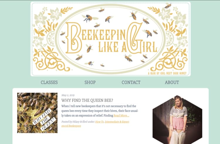 How to Name Your Blog Example Beekeeping Like a Girl