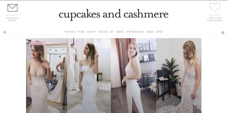 How to Name Your Blog Example Cupcakes and Cashmere