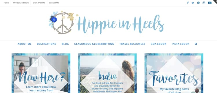 How to Name Your Blog Example Hippie in Heels