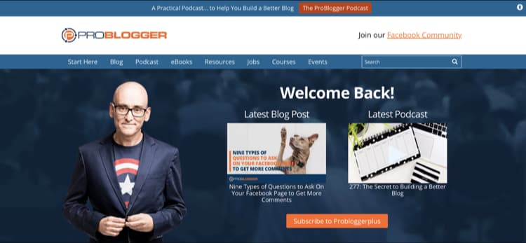 How to Name Your Blog Example ProBlogger