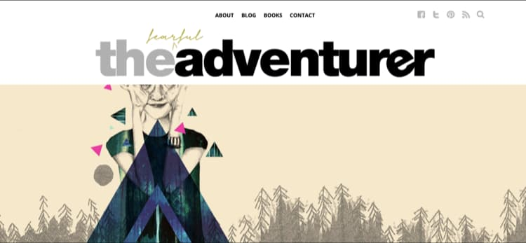 How to Name Your Blog Example The Fearful Adventurer