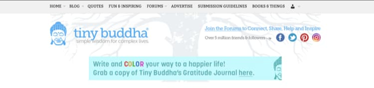 How to Name Your Blog Example Tiny Buddha