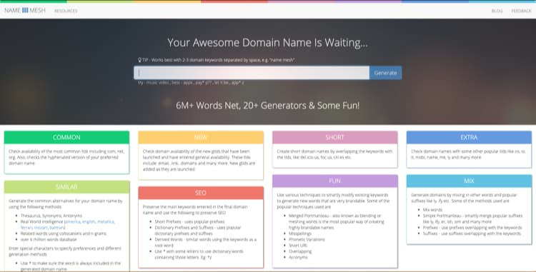 How to Name Your Blog with Name Generator NameMesh