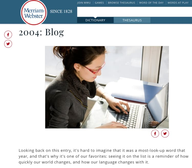 History Of Blogging