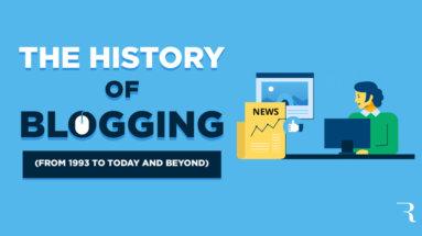 History of Blogging Journey Description Infographic Optimized